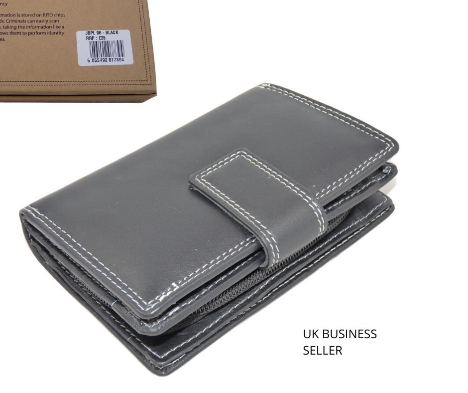 **SALE RRP RFID Blocking LARGE Tab Purse BOXED 4 colours luxury leather