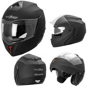 Casco-Integrale-Moto-ECE-22-05-Visiera-Parasole-Modulare-Nero-Opaco