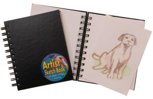 A6-Spiral-Bound-artiste-Sketch-Book-80-page-de-voyage-110gsm-cartonnee-dessin