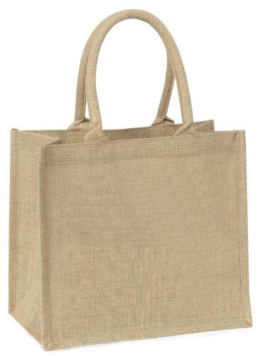 Mother and Baby Hedgehog Large Natural Jute Shopping Bag Christmas Gif AHE-5BLN