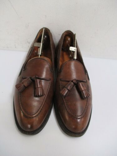 ALDEN Men's Brown Leather 561 TASSEL LOAFERS Size