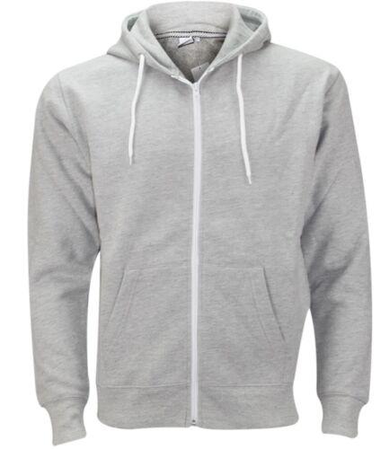 New American Fleece Zip Up Hoody Plain Men/'s Sweatshirt Hooded Zipper Top S-XXXL