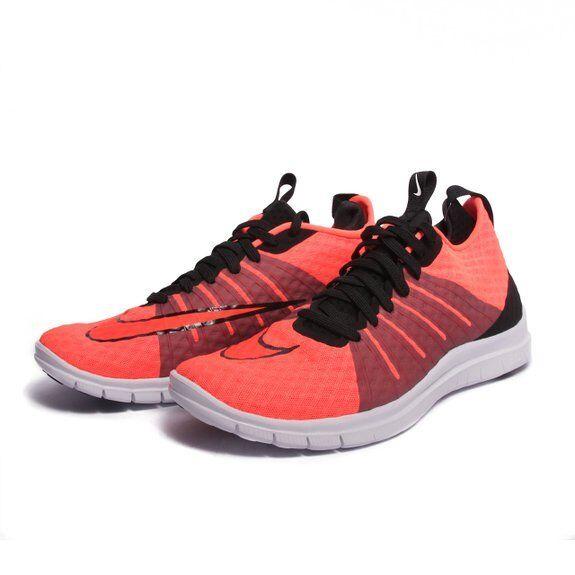 NIB homme NIKE FREE HYPERVENOM 2 ORANGE noir athlétique fonctionnement chaussures - Taille 9