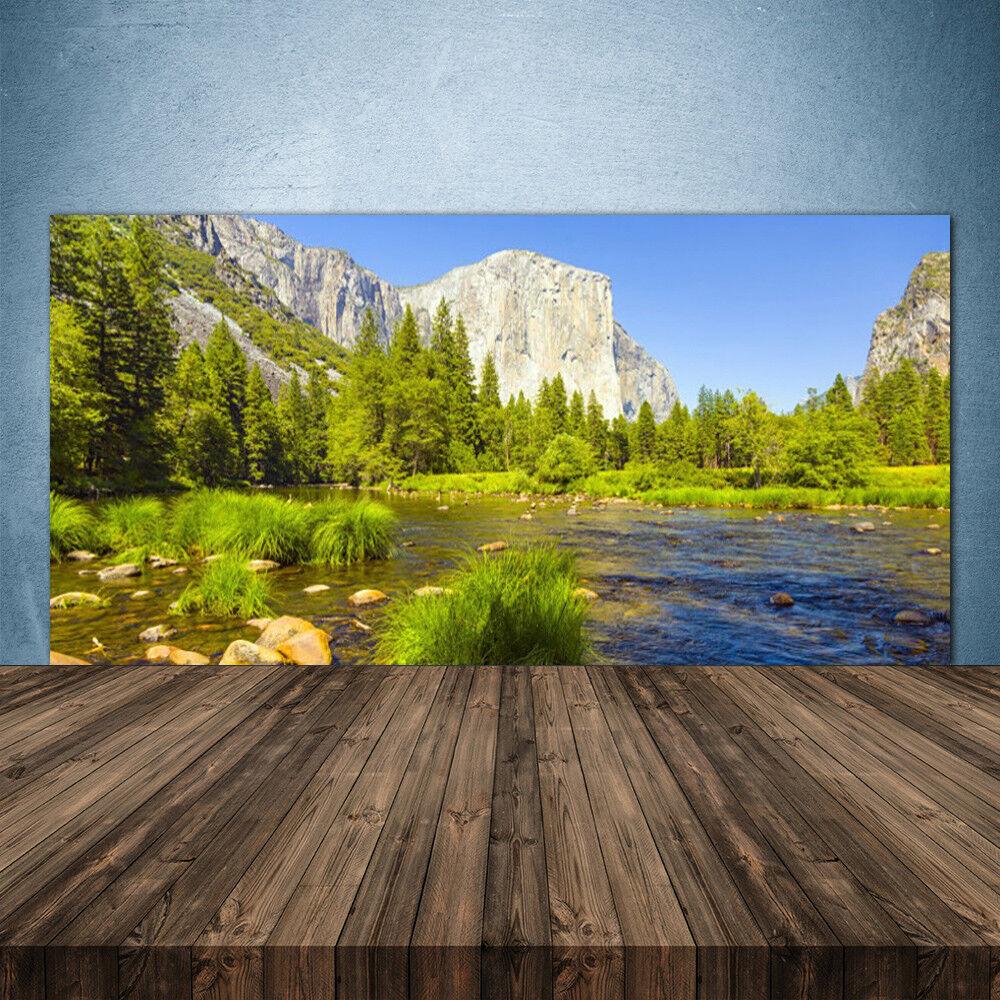 Crédence de cuisine en verre Panneau 140x70 Nature Lac Montagnes Forêt