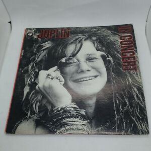 Janis Joplin Joplin In Concert Vinyl Records and CDs For