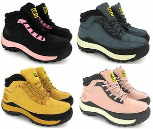 LADIES-SAFETY-WOMENS-LEATHER-STEEL-TOE-CAPS-HIKING-ANKLE-BOOTS-SHOES-SIZE-NEW