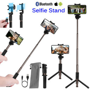 Details about Extendable Bluetooth Selfie Stick Tripod Remote Shutter 360°  Control Android IOS