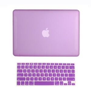 2-in1-Rubberized-PURPLE-Hard-Case-for-Macbook-White13-034-A1342-with-Keyboard-Cover
