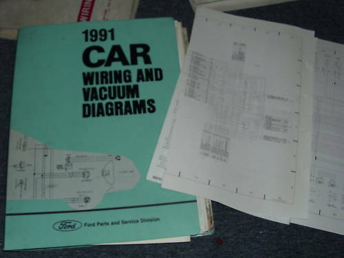1991 Ford Festiva Factory Wiring Diagrams Manual Set