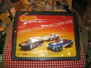 VINTAGE-MATCHBOX-OFFICIAL-COLLECTORS-039-48-CAR-CARRY-CASE-LOW-US-SHIP
