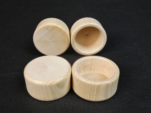 4 Abschlusskappen Endkappen Buche 25mm Ø 48mm Holzkappen nur 1,50 €/St.