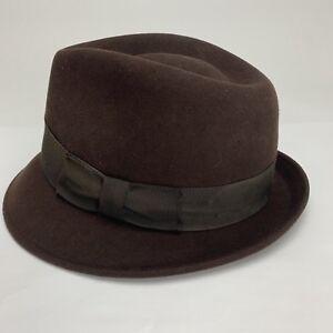 dcb479eb0550a Country Gentleman Fedora 100% Wool Gentle Felt Brown Water Repellent ...