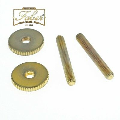 Nickel, Metric mm Faber Steel Tune-o-matic Posts and Thumbwheels