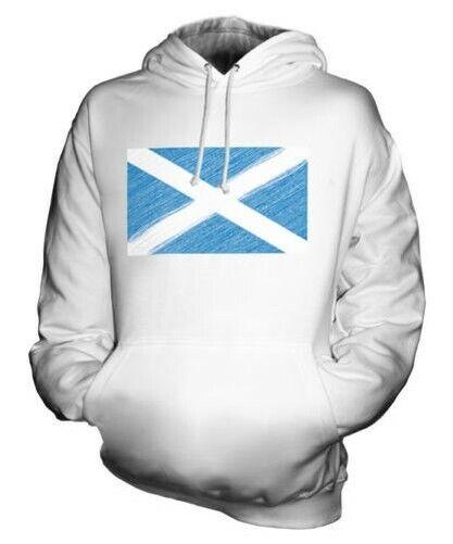 Schottland Scribble Flag Unisex Kapuzenpulli Top Geschenk Scotch Fußball