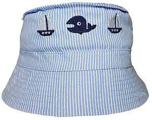 Baby Toddler Nautical Design Bush Hat Boat & Whale Boys Girls Summer Cotton Cap