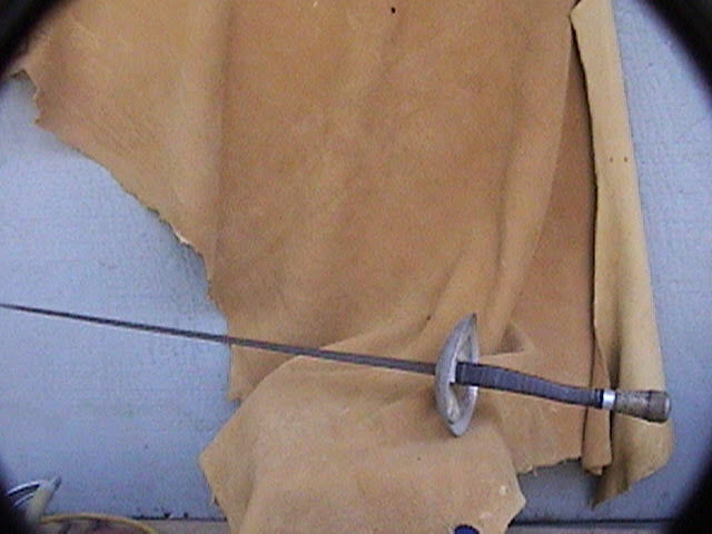 Vintage foil 34  nice handle weight counterbalance slight bend and some rust