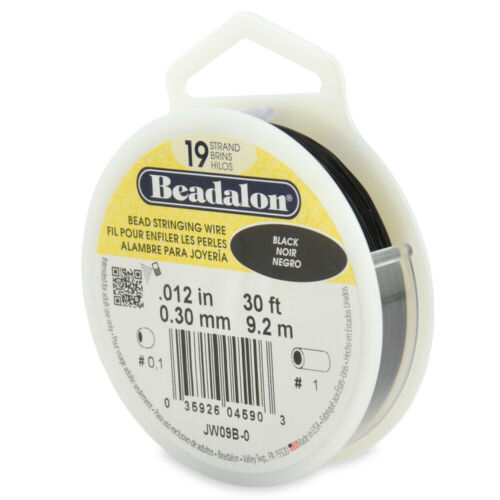 Many Colors /& Sizes Beadalon 19 Strands Bead Stringing Wire Stainless Steel