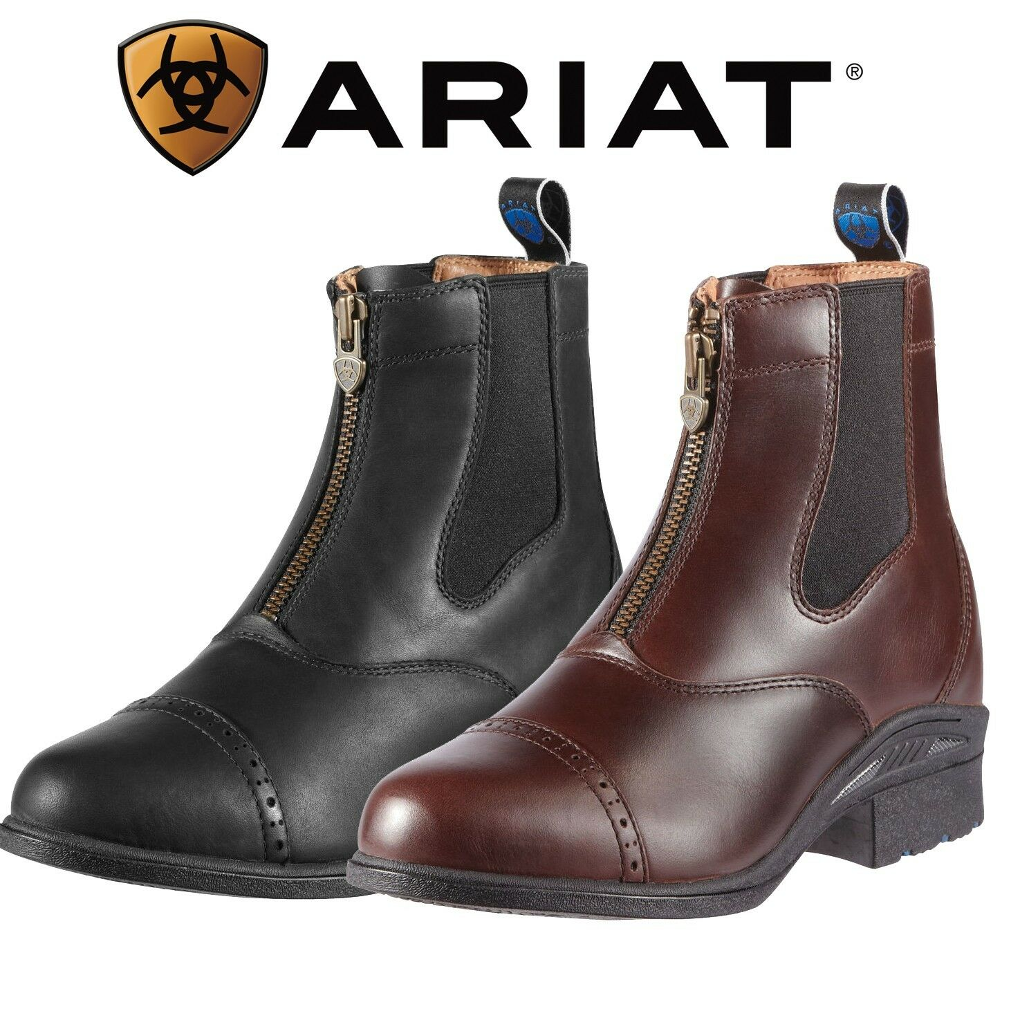 Para Hombre botas Ariat Devon Pro VX Jodhpur-Negro y Marrón disponible