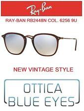 Occhiali da Sole RAYBAN RB 2448N 62569U Sunglasses Ray Ban FLAT LENSES BROWN