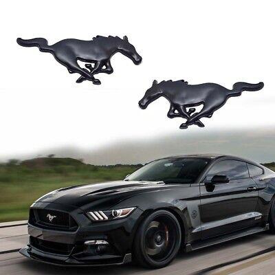 HPOW 2PCS Black 5.0L Engine Name Metal Badge Emblems for Ford Mustang 2015-2018