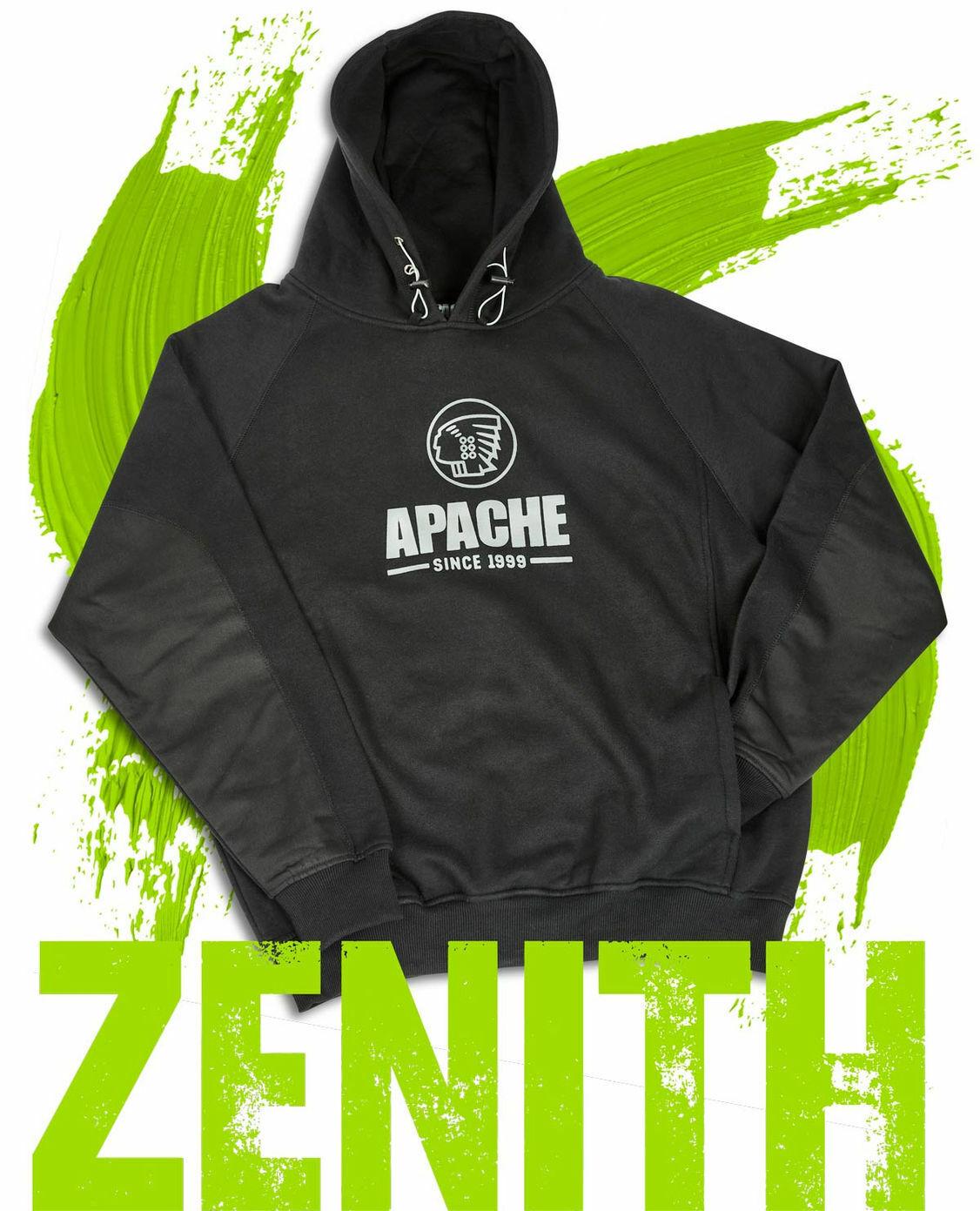Apache Zenith Heavyweight Mens Hooded Sweatshirt Hoody Workwear Top Jumper