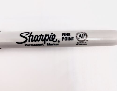 Pack of 6 Fine Point Details about  /Sharpie Permanent Marker Black New Markers