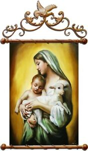 Religion-Mary-Handmade-Oil-Painting-Picture-Oil-Frame-Pictures-G02672