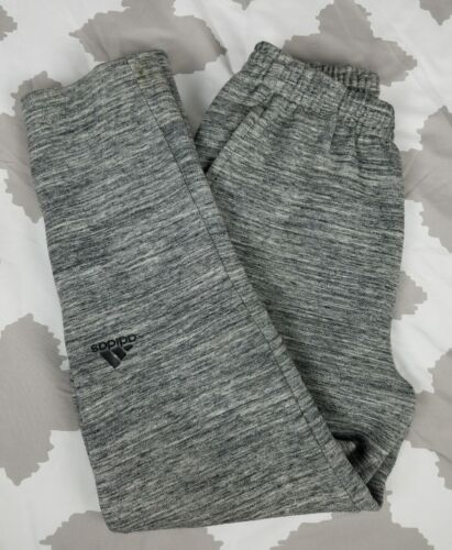 Adidas Originals Joggers Sweatpants Fitted Heather Grey Pants Sz M Warm ups