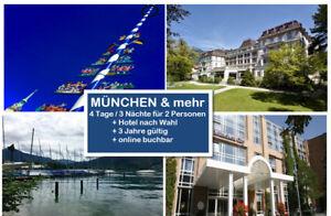 MÜNCHEN+mehr TOP Kurztrip 4 Tage zu zweit z.B. im 4* Hotel -2 Jahre gültig - München, Deutschland - MÜNCHEN+mehr TOP Kurztrip 4 Tage zu zweit z.B. im 4* Hotel -2 Jahre gültig - München, Deutschland