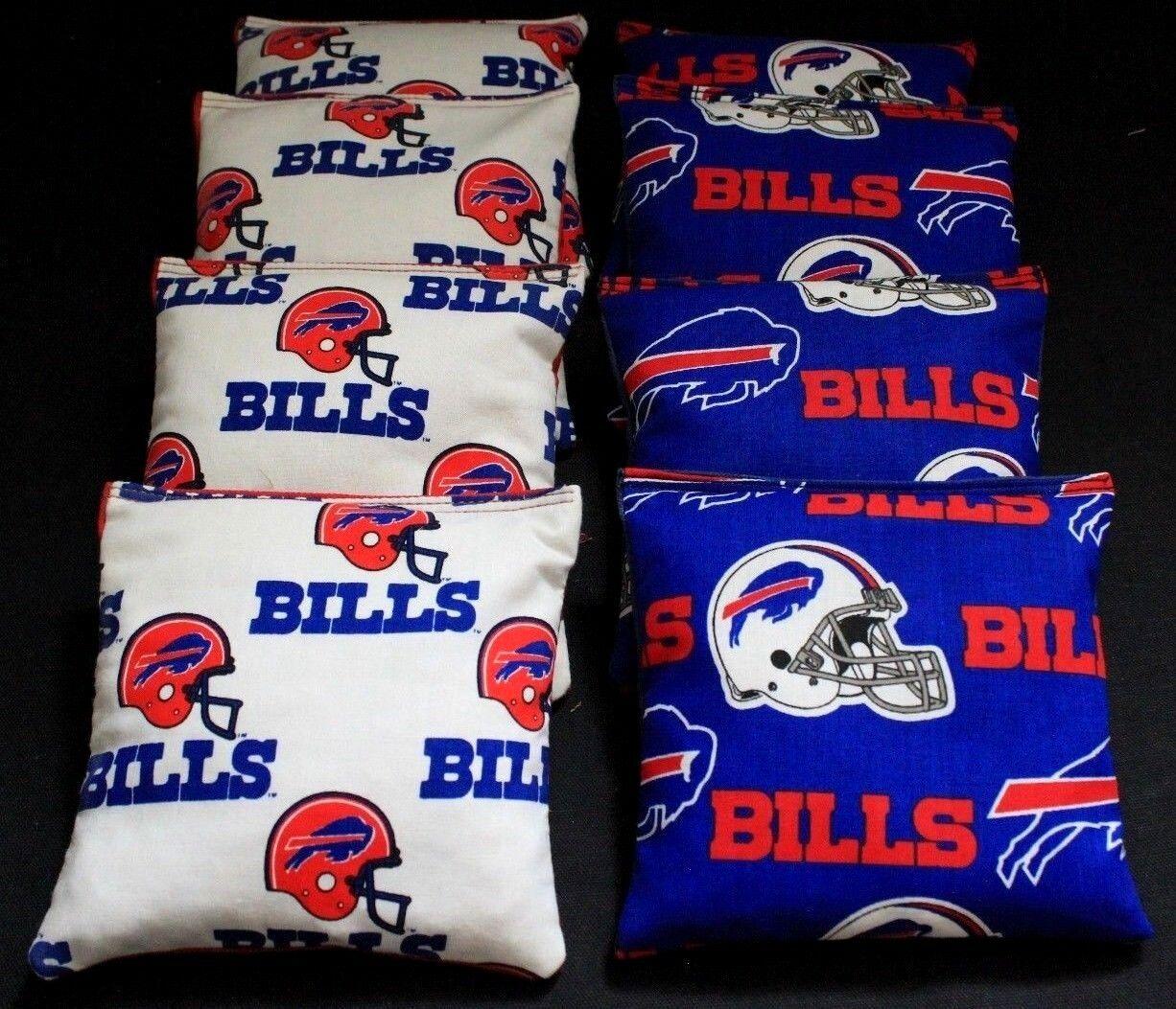 RARE BUFFALO BILLS 8 CORNHOLE BEAN BAG  TOSS BAGGO NFL Top Quality Handmade   enjoy saving 30-50% off