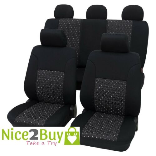 Sitzbezug//Schonbezüge Ambiente schwarz VW Caddy 03//04 Caddy IV ab 06//15 Autosc