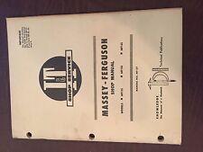 I&T MASSEY FERGUSON SHOP TRACTOR SERVICE MANUAL 90 SUPER  MF135 150 165