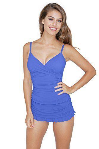 NWT  Profile by Gottex Periwinkle Tutti Frutti One-Piece Swimdress Women's 8