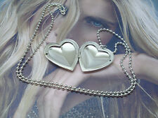 Collana Portafoto Donna Argento Cuore , Crystal Silver Cadres Coeur Femme new
