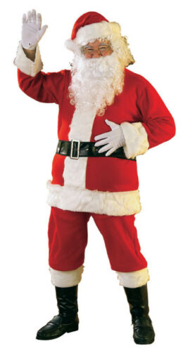 Adult Flannel Santa Suit Costume Christmas
