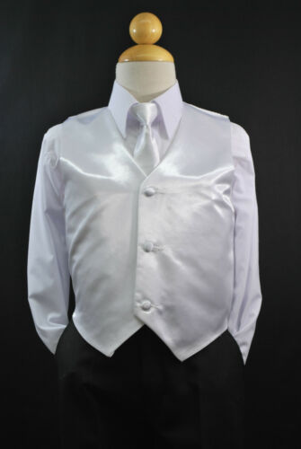 Children Toddler RED SATIN VEST TIE Boy Suit Tuxedo Sz 2T 3T 4T 5 6 7 8 10 12 14
