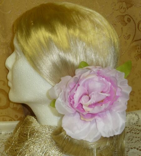 Peony Life Like Flower Floral Hair Clip Brooch Lapel Pin Fascinator Blossom Bow!