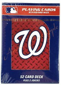 Washington-Nationals-Official-MLB-52-Playing-Card-Deck-2-Jokers-Factory-Sealed