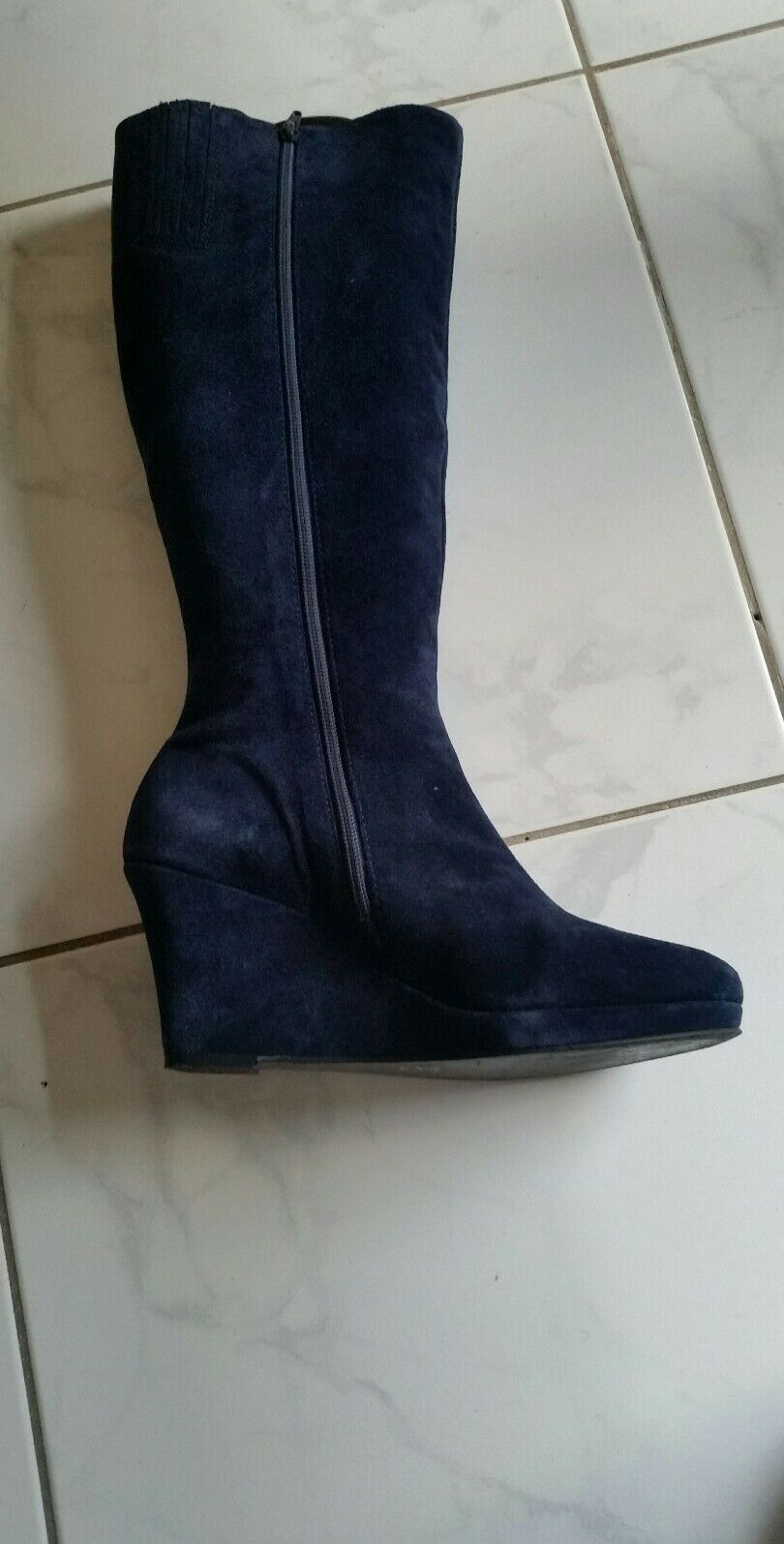Ragazzi Milano Blau Damen Stiefel Gr 42 Blau Milano Nubukleder wNeu e8da67