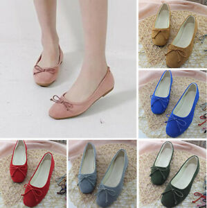Women-Ladies-Square-Toe-Ballet-Flats-Casual-Loafers-Cheap-Footwear-Walking-Shoes