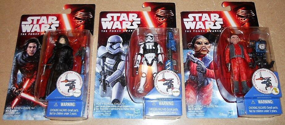 Star Wars The Force Awakens KYLO REN Unmasked Nien Nien Nien Nunb First Order Squad Leader faf434