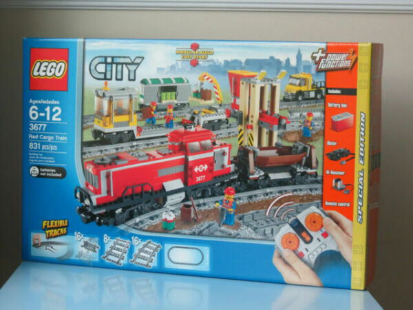 Lego City Red Cargo Train Tractor Flatbed Figure Mint 60052//60098//7939//3677