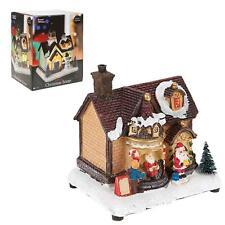 Christmas Decoration Fibre Optic Building 523061 - House Santa