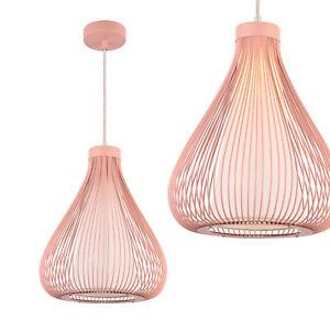 ® palo Lámpara colgante celosía diseño Detalles delux jaula de rosa tipo pro metal 0mn8Nwv