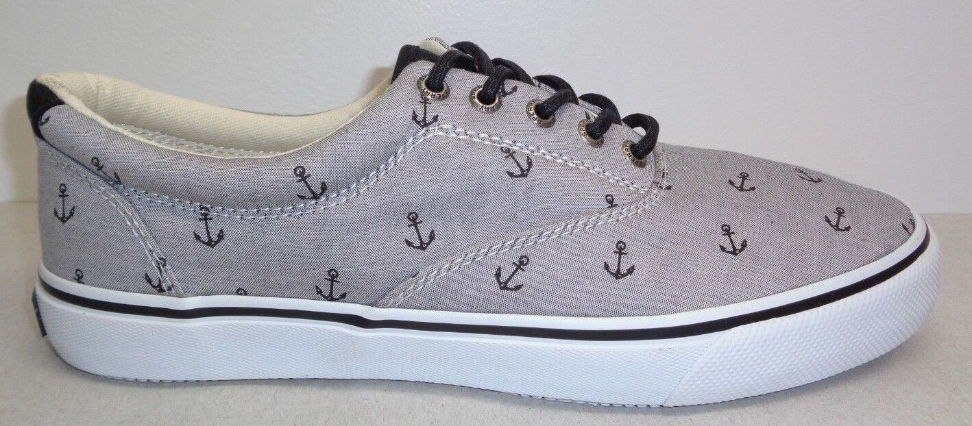 Sperry Size 10.5 CVO M ANCHORS LL CVO 10.5 Gray Black Canvas Sneakers New Mens Shoes 2b292d