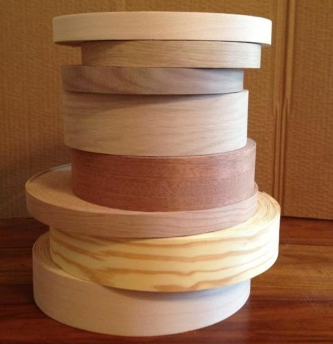 Pre Glued Edging Tape Real Iron on Wood Veneer Edge Banding 22mm 30mm 40mm 50mm