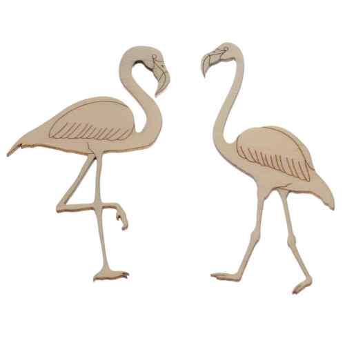 verschiedene Größen Holz Flamingos Holz Zuschnitte mit Kontur