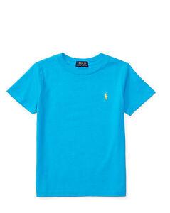 timeless design 871a0 e04fc Dettagli su Polo RALPH LAUREN Maglietta T-Shirt Cotone Manica Corta Bambino  Ragazzo AZZURRA