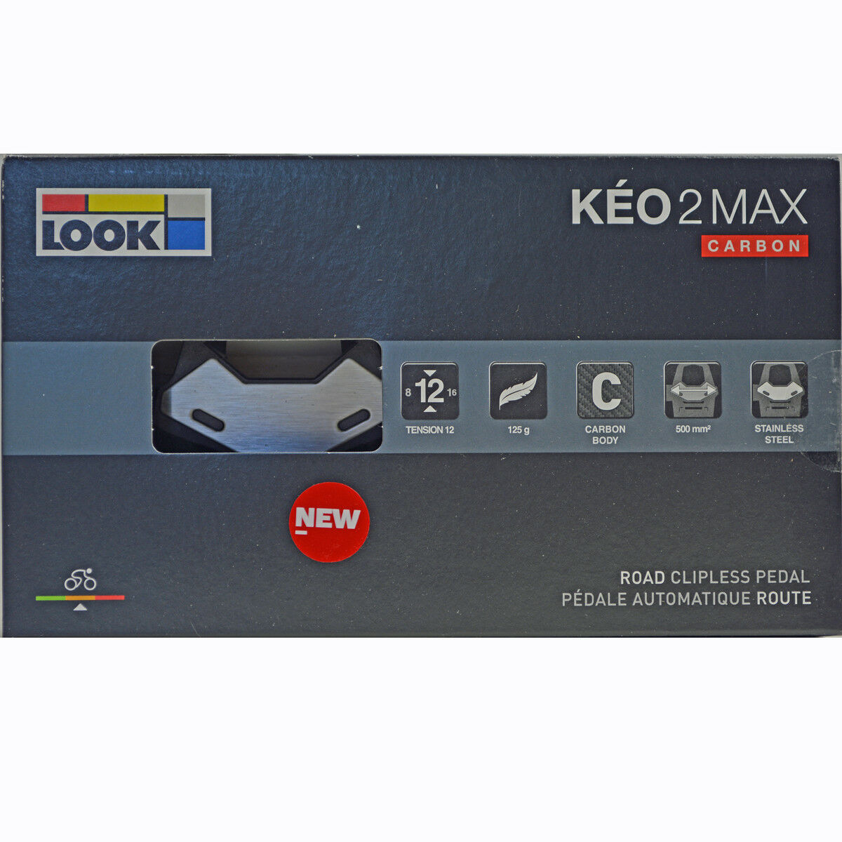 NEW  2018 LOOK KEO 2 Max CARBON Road Cycling Pedals & G  Grip Cleats Bolts  more discount
