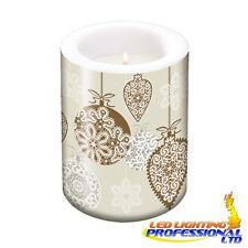 Decorazione Tavola Natale Lacci SATINATA rame candela di grandi dimensioni h:12 ø10cm/D